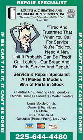 Louie's A/C Heating and Refrigeration Services Inc.